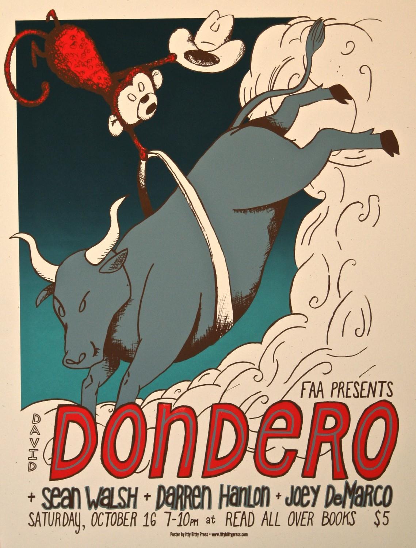 David Dondero - monkey poster